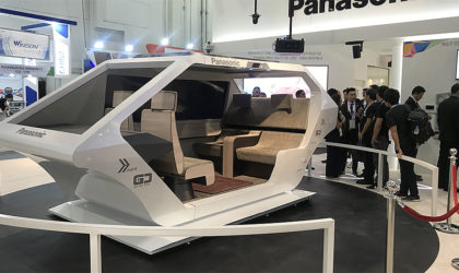 Panasonic presents four types of living cabin space for vehicles at Gitex