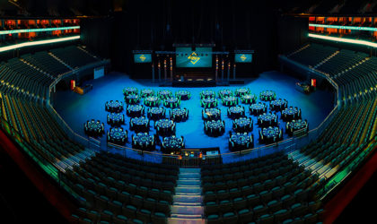 Dubai's Coca-Cola Arena with automated seating design starts event hosting