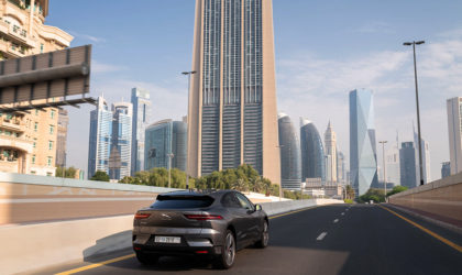 Jaguar I-PACE demonstrates self-driving capability on the streets of Dubai