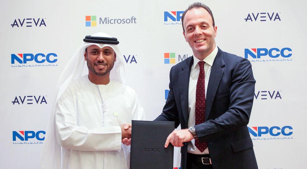 Ahmed Al Dhaheri, CEO, NPCC and Ihsan Anabtawi, COO, Microsoft Gulf