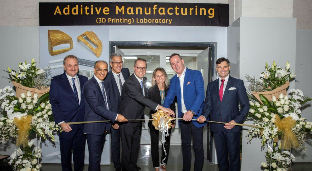 The official opening of Etihad Engineering's 3D printing lab