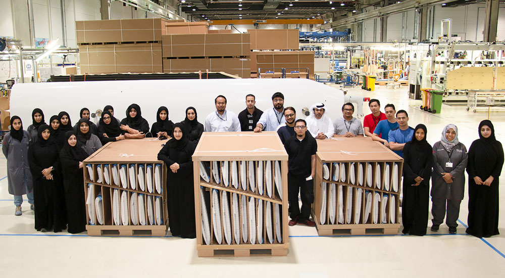 Strata's first delivery for the Boeing 777X