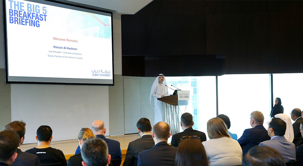 Hassan Al Hashemi during the Big5 breakfast briefing