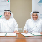 (right to left) Dr Juma Al Matrooshi and Saed Alawadi signing the MoU