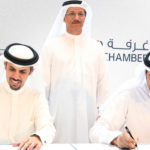 ESMA Director General and President and CEO of Dubai Chamber signing the MoU