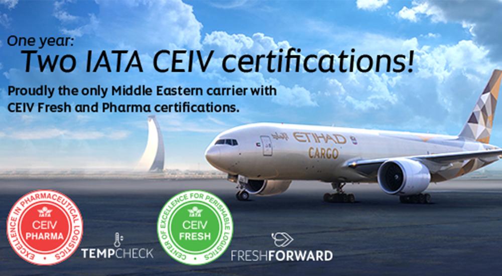 Etihad Cargo awarded IATA's Centre of Excellence for Perishable Logistics, CEIV Fresh