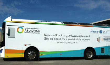 Masdar's sustainability e-bus now touring the seven emirates