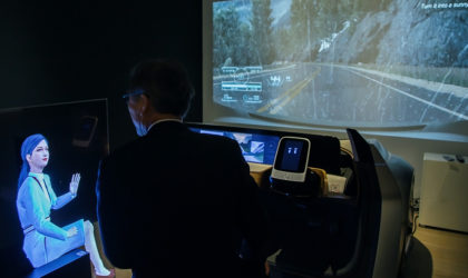 Nissan's connected car Invisible-to-Visible on display at Mori Art Museum