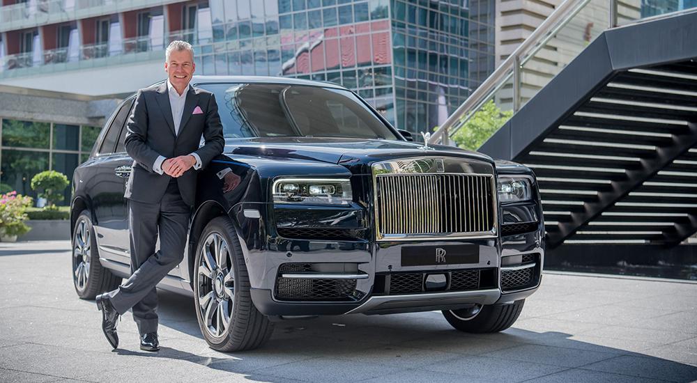 Torsten Müller-Ötvös, Chief Executive Officer, Rolls-Royce Motor Cars with Rolls-Royce Cullinan