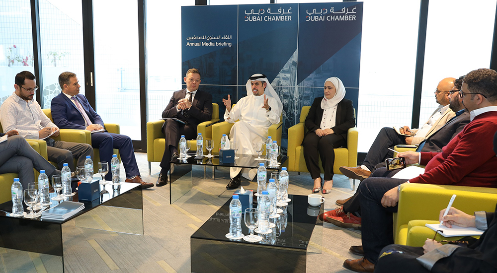 HE Hamad Buamim, President and CEO of Dubai Chamber of Commerce and Industry, during the annual media briefing