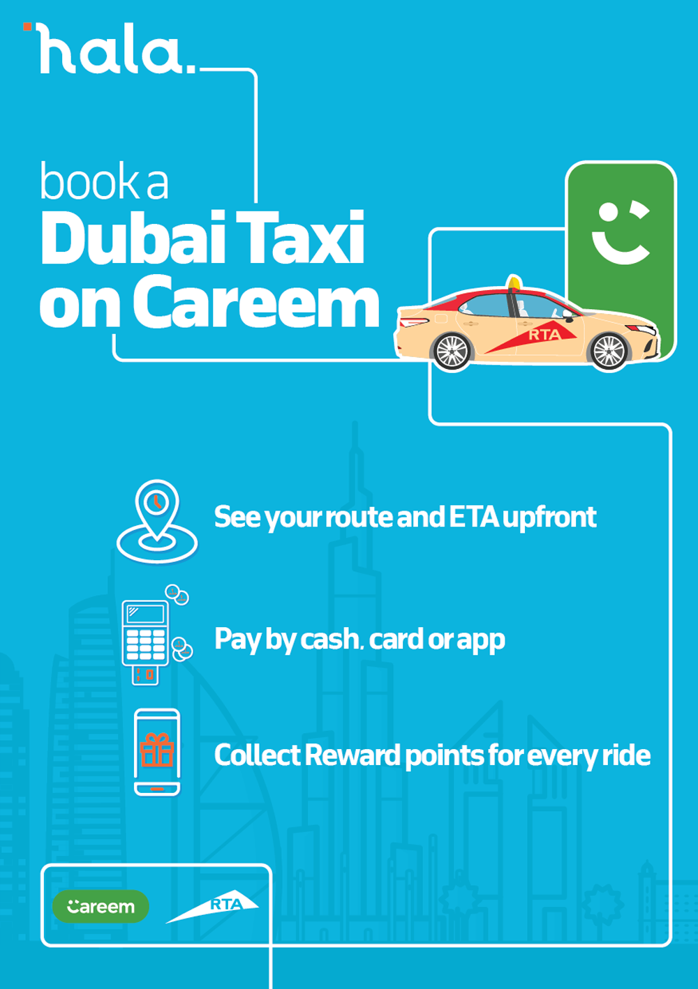 Complete migration of RTA taxi bookings services to Hala comes into effect on 15 January