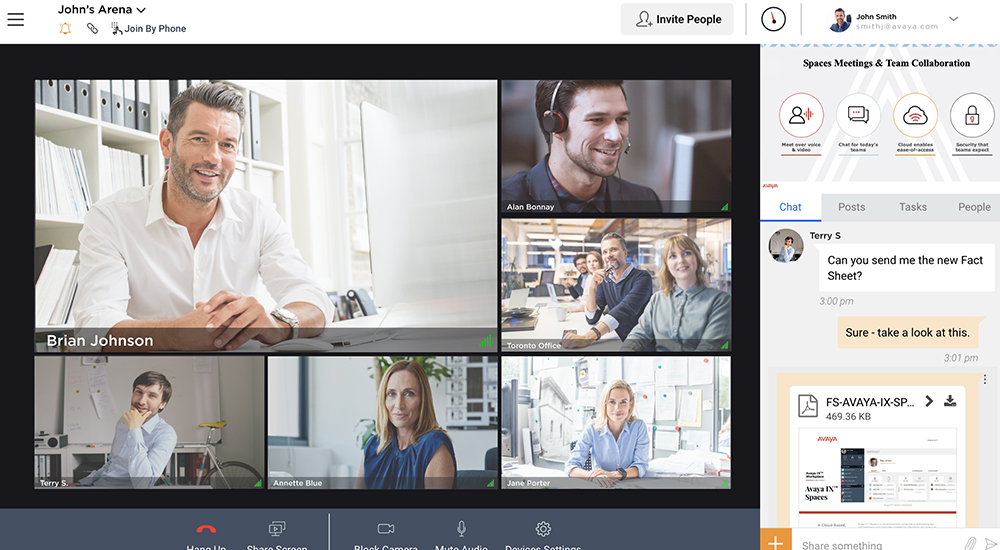 Avaya Spaces is a cloud meeting and team collaboration app