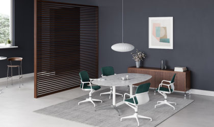 Herman Miller introduces Civic table collection for use at work, home and hospitality