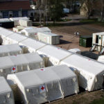 Losberger De Boer's inflatable TAG tents.