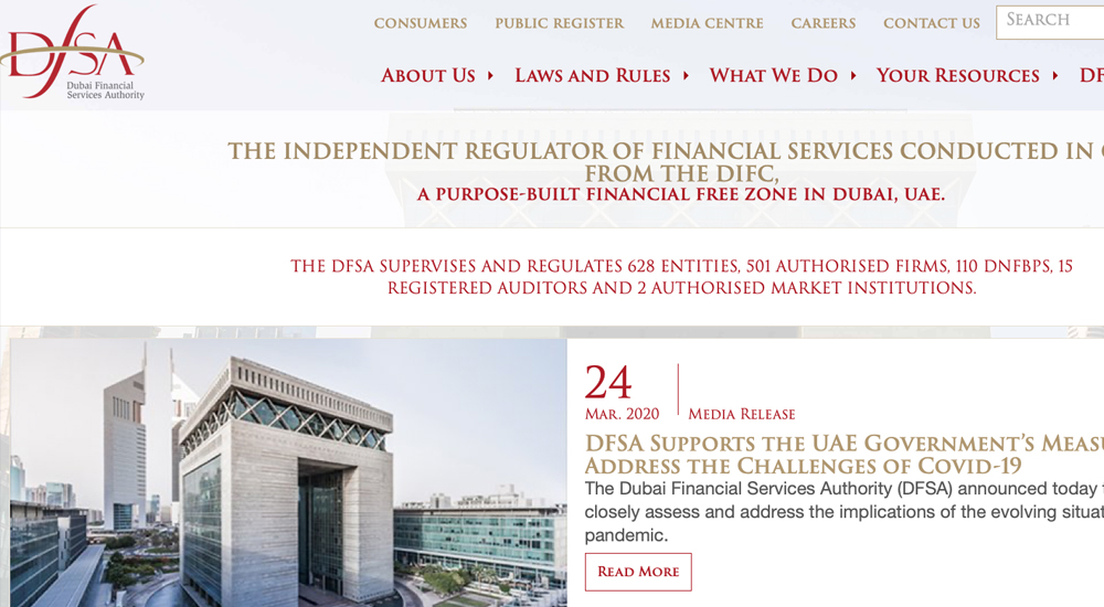 Dubai Financial Services Authority, DFSA