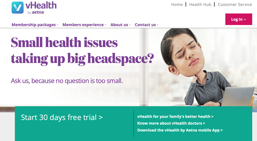Aetna gives free access to vHealth, provides reimbursements for COVID-19 tests