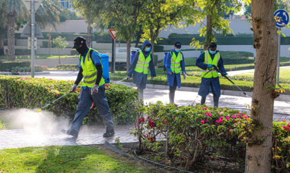 Dubai Silicon Oasis uses 25,000 litres of disinfectants to combat COVID-19