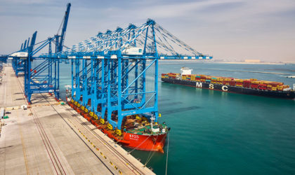 Abu Dhabi Terminals moves to semi-automation with largest ship to shore cranes
