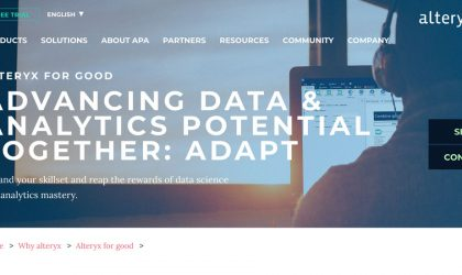 Alteryx offers ADAPT free training in data analytics to upskill workers amid Covid-19