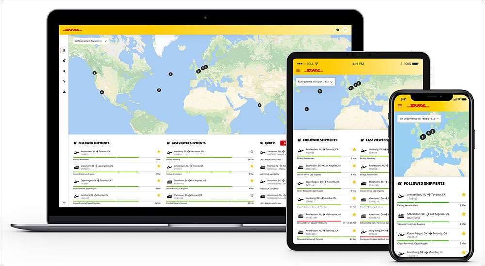 DHL Global Forwarding has launched myDHLi,