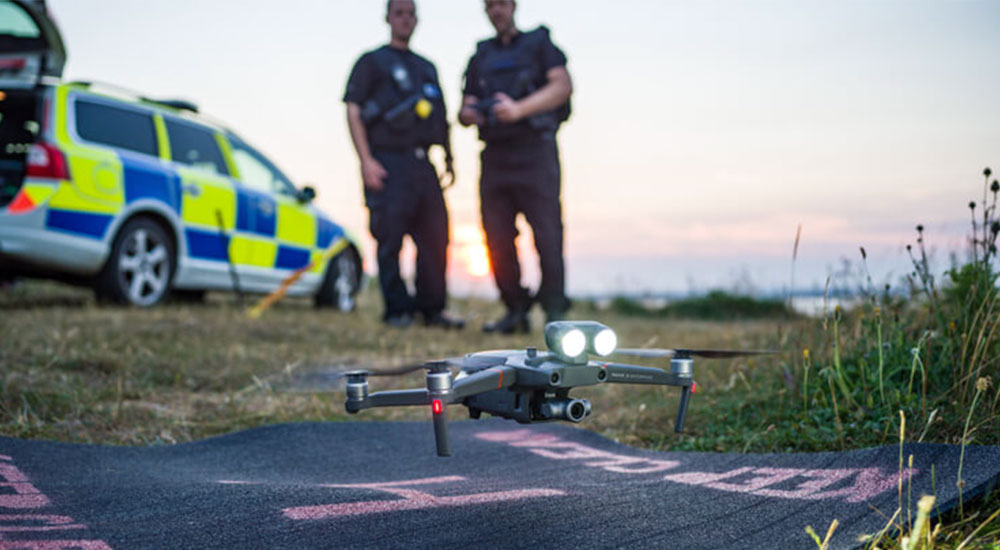 A DJI drone used by the police.