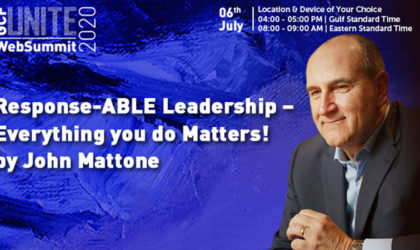 Top executive coach John Mattone delivers WebSummit on Response-ABLE Leadership