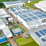 Solar panels at Tetra Pak Arabia site.