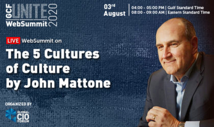 Executive coach John Mattone delivers websummit on corporate culture