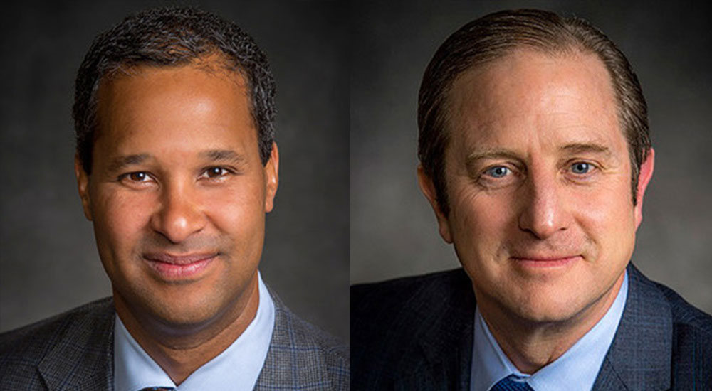 {left to right) Marc Allen as Chief Strategy Officer and Senior Vice President, Strategy and Corporate Development and Christopher Raymond, Chief Sustainability Officer at Boeing.