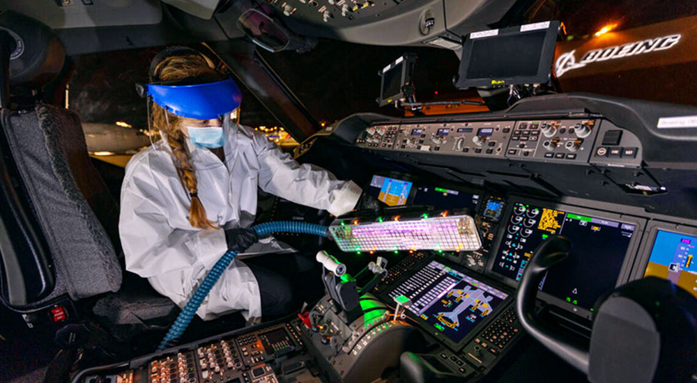 How Boeing continues to innovate around aircraft sanitisation