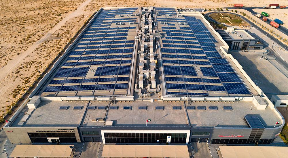 Rooftop solar plant for Al Nabooda Automobiles.