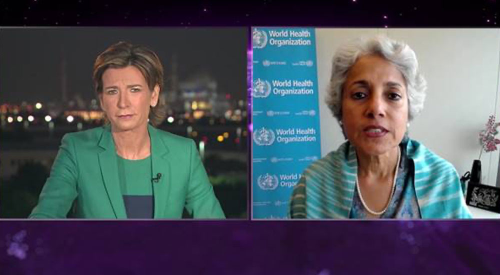 WHO's Chief Scientist Soumya Swaminathan on CNN warns vaccine efficiency still unclear