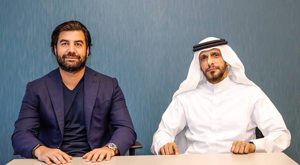 (left to right) Imad Jomaa, Founder and President of JGroup; and Mohammed AlMalki, Founder, and CEO of FoxPush.