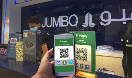 15 Jumbo Electronics stores integrate contactless PayBy QR payment solution
