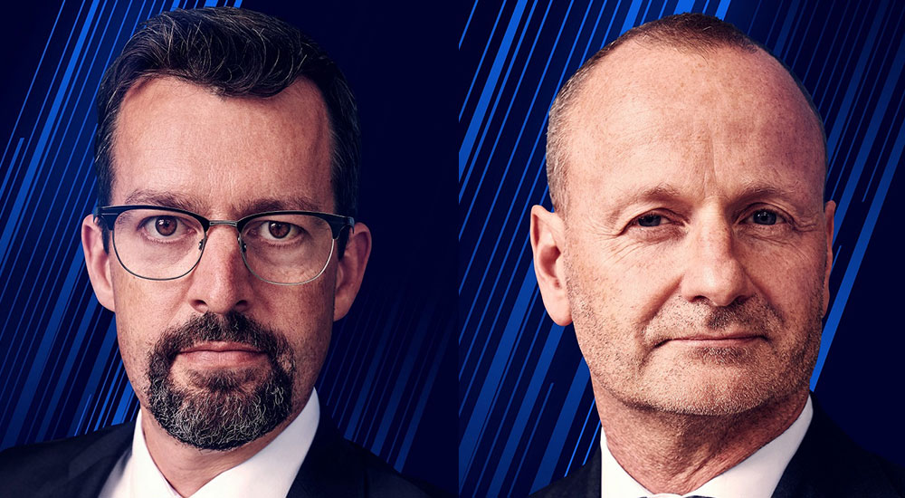 (left to right) John Hardy, Head of FX Strategy at Saxo Bank; and Steen Jakobsen, Chief Investment Officer at Saxo Bank.