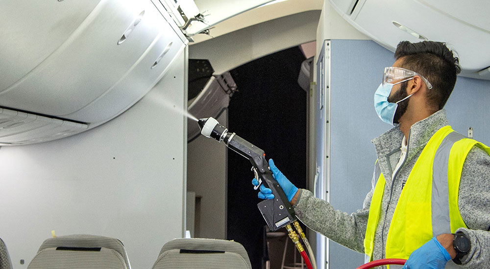 Boeing, University of Arizona tests airline cleaning effectiveness against live MS2 virus