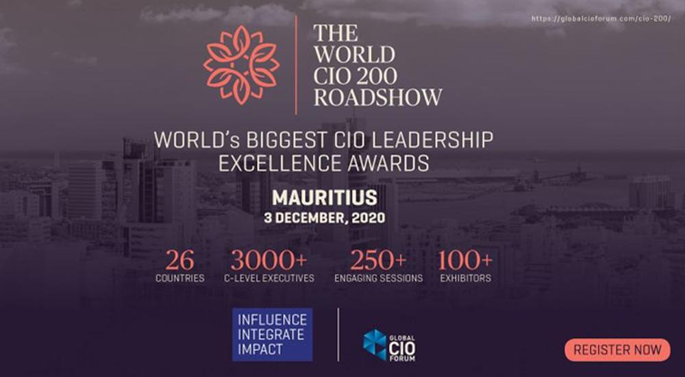 The World CIO 200 Roadshow - 2020, #mauritius Edition on 3rd December 2020.
