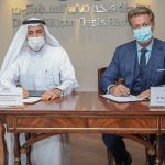 (left to right) Dr Mohammed Al Zarooni, Vice Chairman and CEO of DSOA; and Martin Pedersen, Chairman of IFZA.