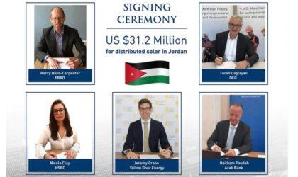 Yellow Door Energy powers 5 retailers in Jordan with $30M+ loan for eight solar plants