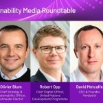 Panelists at AVEVA World Digital 3 Sustainability Media Roundtable.