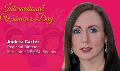 Andrea Carter of Sophos says more and more women are taking leadership roles in technology