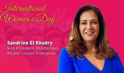 Sandrine El Khodry of Alcatel-Lucent Enterprise talks encourages women to continue to make a difference