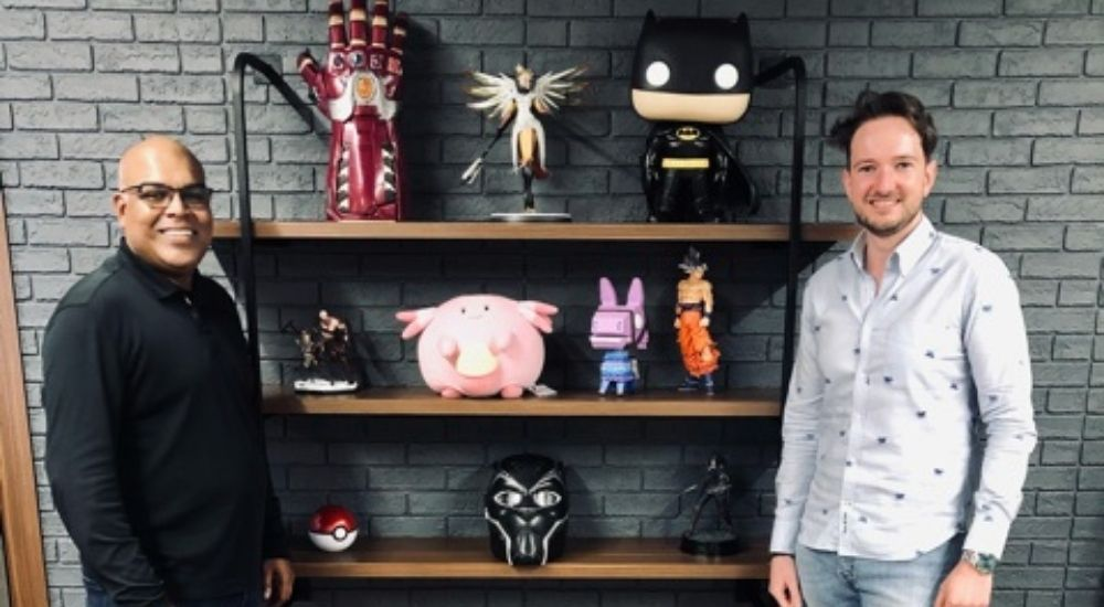 (Left to Right) Lalit Vase, co-founder, Scopernia Gaming's; Jeremy Denisty, Managing Director MENA at Scopernia