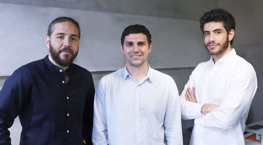 (Left to Right) Tarek Bayaa, Co-founder & Chief Commercial Officer; Brian Habibi, Co-Founder and CMO; and Talal Bayaa, Co-founder and CEO at Bayzat.