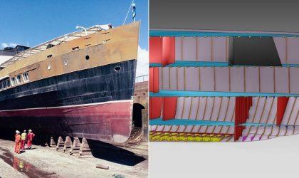 Rebuilding a historical ship through its digital twin