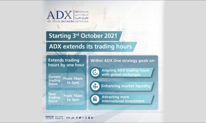 ADX cuts commissions by 50%, extends trading hours to match global operating hours