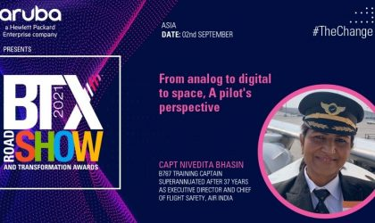 From analog to digital to space, A pilot's perspective – Captain Nivedita Bhasin