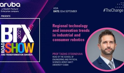 Regional technology and innovation trends in industrial and consumer robotics – Prof Tadhg O'Donovan